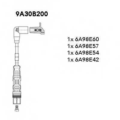 Комплект проводов зажигания BREMI 9A30B200 - изображение