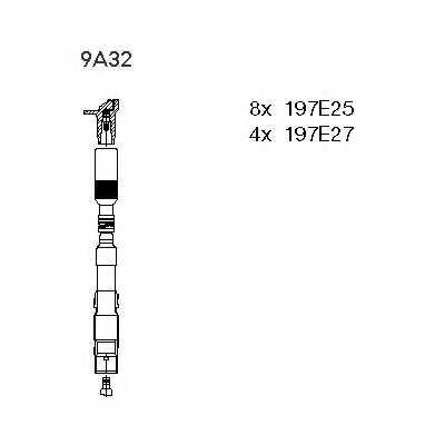 Комплект проводов зажигания BREMI 9A32 - изображение