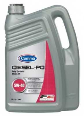 Масло моторное синтетическое 5л 5w40 SM/CF Comma Diesel PD DPD5L - изображение