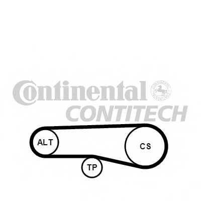 Поликлиновой ременный комплект CONTITECH 4PK890K1 - изображение