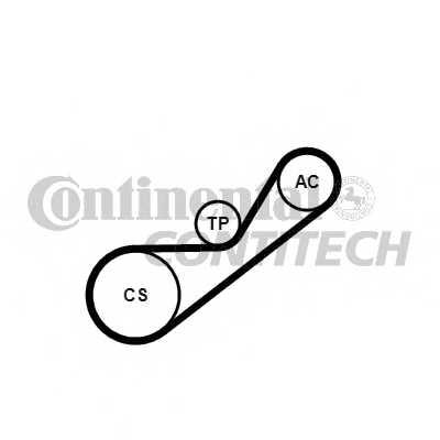 Поликлиновой ременный комплект CONTITECH 4PK925K1 - изображение