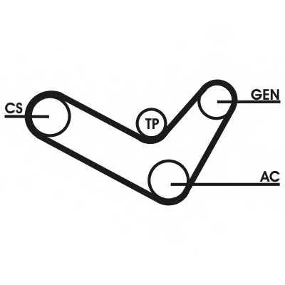 Поликлиновой ременный комплект CONTITECH 6PK1050D2 - изображение