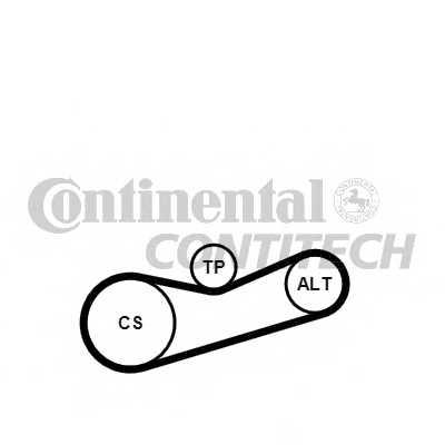Поликлиновой ременный комплект CONTITECH 6PK1180K2 - изображение