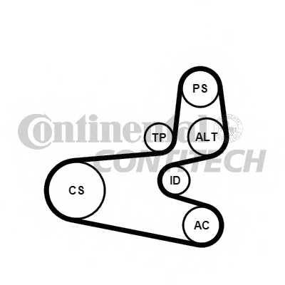 Поликлиновой ременный комплект CONTITECH 6PK1560K1 - изображение