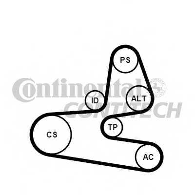 Поликлиновой ременный комплект CONTITECH 6PK1564K1 - изображение