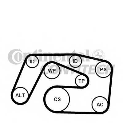 Поликлиновой ременный комплект CONTITECH 6PK2271K1 - изображение