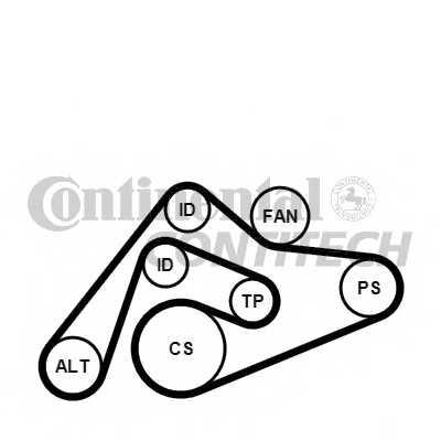 Поликлиновой ременный комплект CONTITECH 6PK2404K1 - изображение