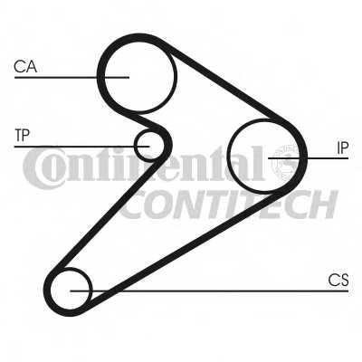 Комплект ремня ГРМ CONTITECH CT517K1 - изображение