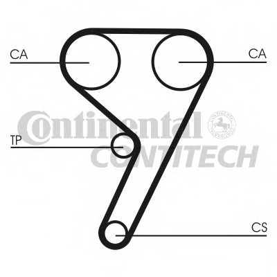 Водяной насос + комплект зубчатого ремня CONTITECH CT881WP1 - изображение
