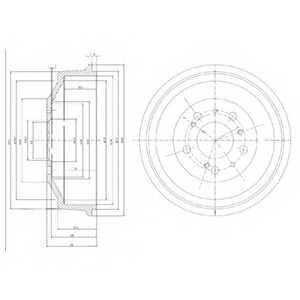 Тормозной барабан DELPHI BF153 - изображение
