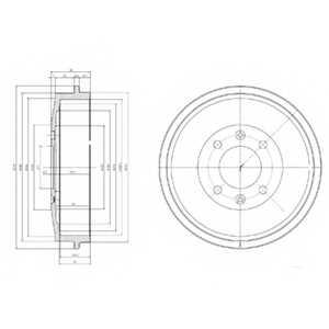 Тормозной барабан DELPHI BF169 - изображение