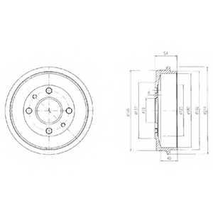 Тормозной барабан DELPHI BF200 - изображение