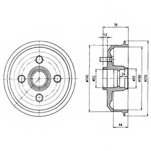 Тормозной барабан DELPHI BF229 - изображение