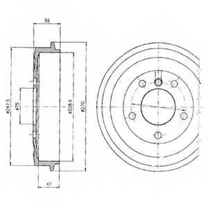 Тормозной барабан DELPHI BF275 - изображение