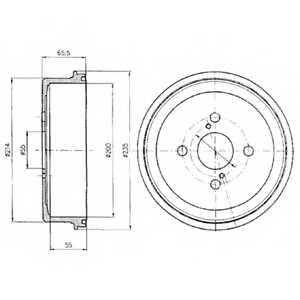 Тормозной барабан DELPHI BF278 - изображение
