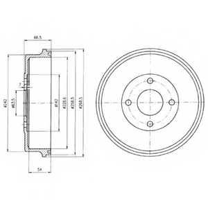 Тормозной барабан DELPHI BF314 - изображение