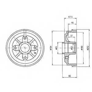 Тормозной барабан DELPHI BF324 - изображение