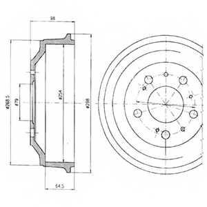 Тормозной барабан DELPHI BF327 - изображение