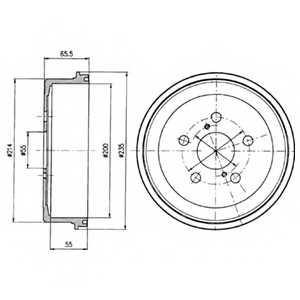 Тормозной барабан DELPHI BF341 - изображение