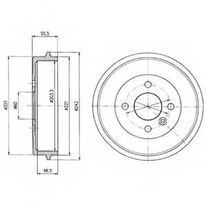 Тормозной барабан DELPHI BF346 - изображение