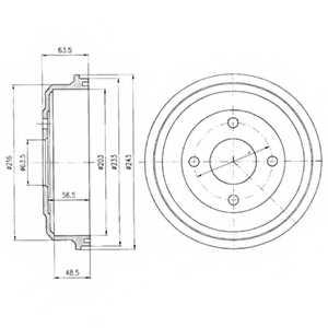 Тормозной барабан DELPHI BF369 - изображение