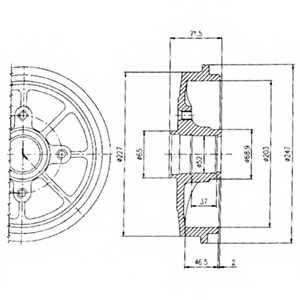 Тормозной барабан DELPHI BF392 - изображение