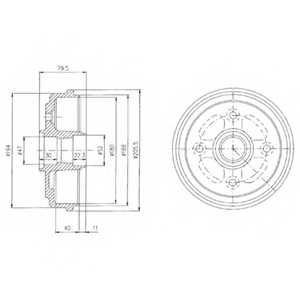 Тормозной барабан DELPHI BF400 - изображение