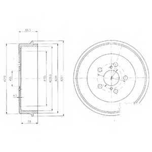 Тормозной барабан DELPHI BF405 - изображение