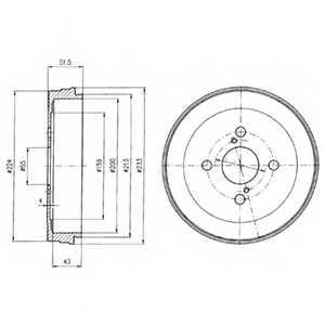 Тормозной барабан DELPHI BF411 - изображение