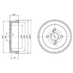Тормозной барабан DELPHI BF412 - изображение