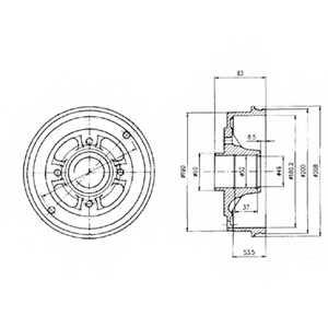 Тормозной барабан DELPHI BF426 - изображение