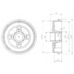 Тормозной барабан DELPHI BF427 - изображение