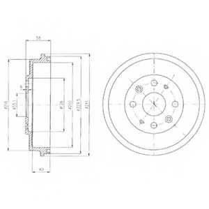 Тормозной барабан DELPHI BF456 - изображение