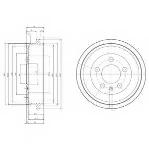 Тормозной барабан DELPHI BF463 - изображение