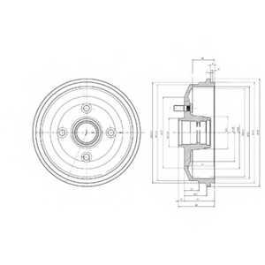 Тормозной барабан DELPHI BF468 - изображение