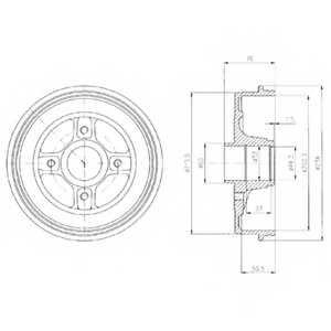 Тормозной барабан DELPHI BF480 - изображение