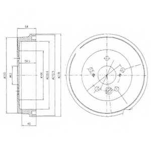 Тормозной барабан DELPHI BF495 - изображение