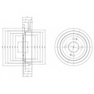 Тормозной барабан DELPHI BF516 - изображение