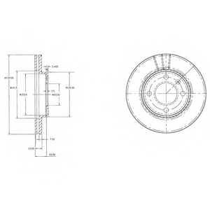 Тормозной диск DELPHI BG2109 - изображение