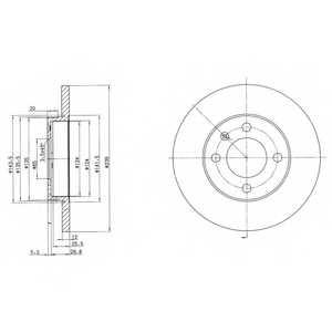 Тормозной диск DELPHI BG2116 - изображение