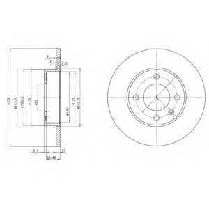 Тормозной диск DELPHI BG2117 - изображение