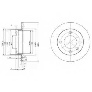 Тормозной диск DELPHI BG2118 - изображение