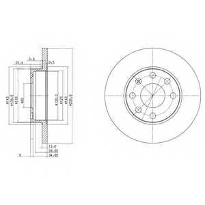 Тормозной диск DELPHI BG2148 - изображение