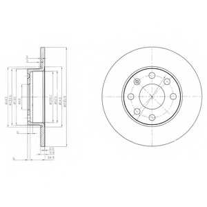 Тормозной диск DELPHI BG2149 - изображение