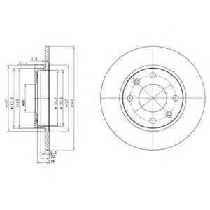 Тормозной диск DELPHI BG2213 - изображение
