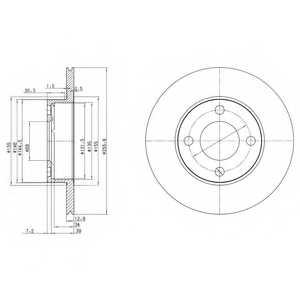 Тормозной диск DELPHI BG2215 - изображение