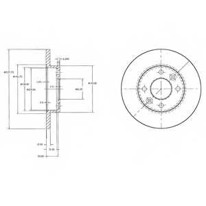 Тормозной диск DELPHI BG2217 - изображение