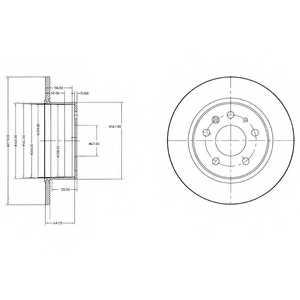 Тормозной диск DELPHI BG2240 - изображение