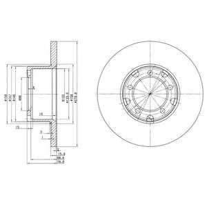 Тормозной диск DELPHI BG2265 - изображение