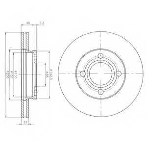 Тормозной диск DELPHI BG2272 - изображение